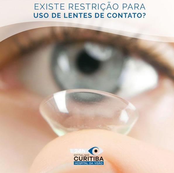 restrições para o uso de lentes de contato em curitiba